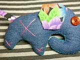 Джинсовый слоник игрушка